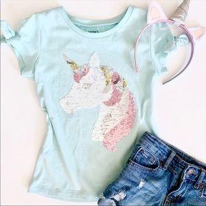Carter's Girls Flip Sequin Unicorn Tee